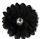 Black Gerbera Flower with Rhinestone