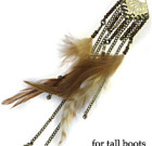 Brown Feathers with Chains for Tall Boots