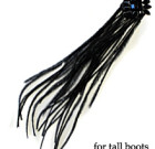 Black Feathers with Rhinestone for Tall Boots