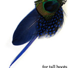 Peacock Feathers with Beads for Tall Boots