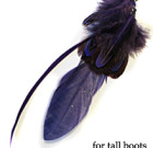 Purple Feathers for Tall Boots