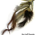 Brown Feathers with Metal Spikes for Tall Boots