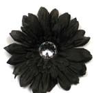 Dark Brown Gerbera Flower with Rhinestone
