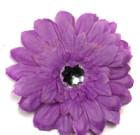 Lavender Gerbera Flower with Rhinestone