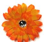 Orange Gerbera Flower with Rhinestone