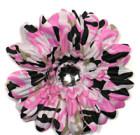 Pink Camo Gerbera Flower with Rhinestone