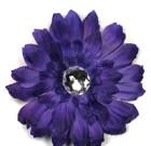 Purple Gerbera Flower with Rhinestone